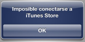 Imposible conectarse a iTunes Store