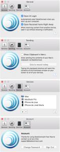 Preferencias de la versión Mac