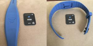 Pulsera contactless para pagar mediante NFC