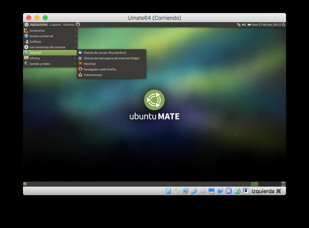 Ubuntu Mate en VirtualBox para macOS