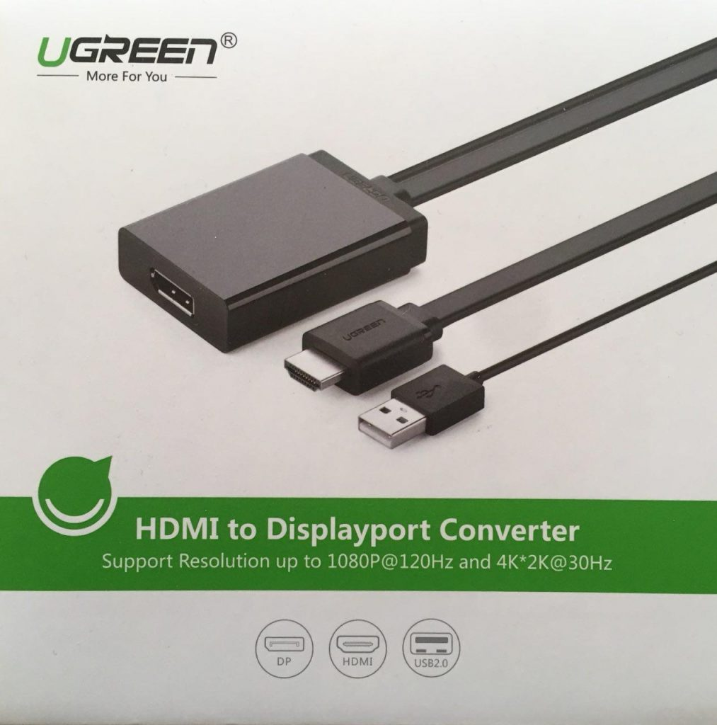 Adaptador HDMI a DisplayPort