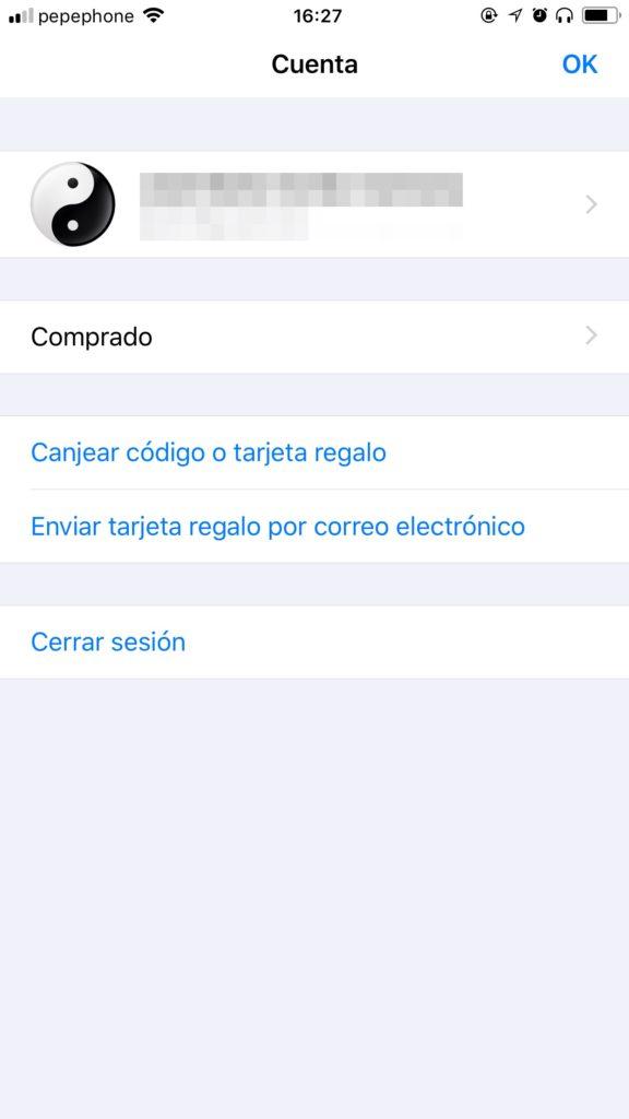 Cuenta del Appstore